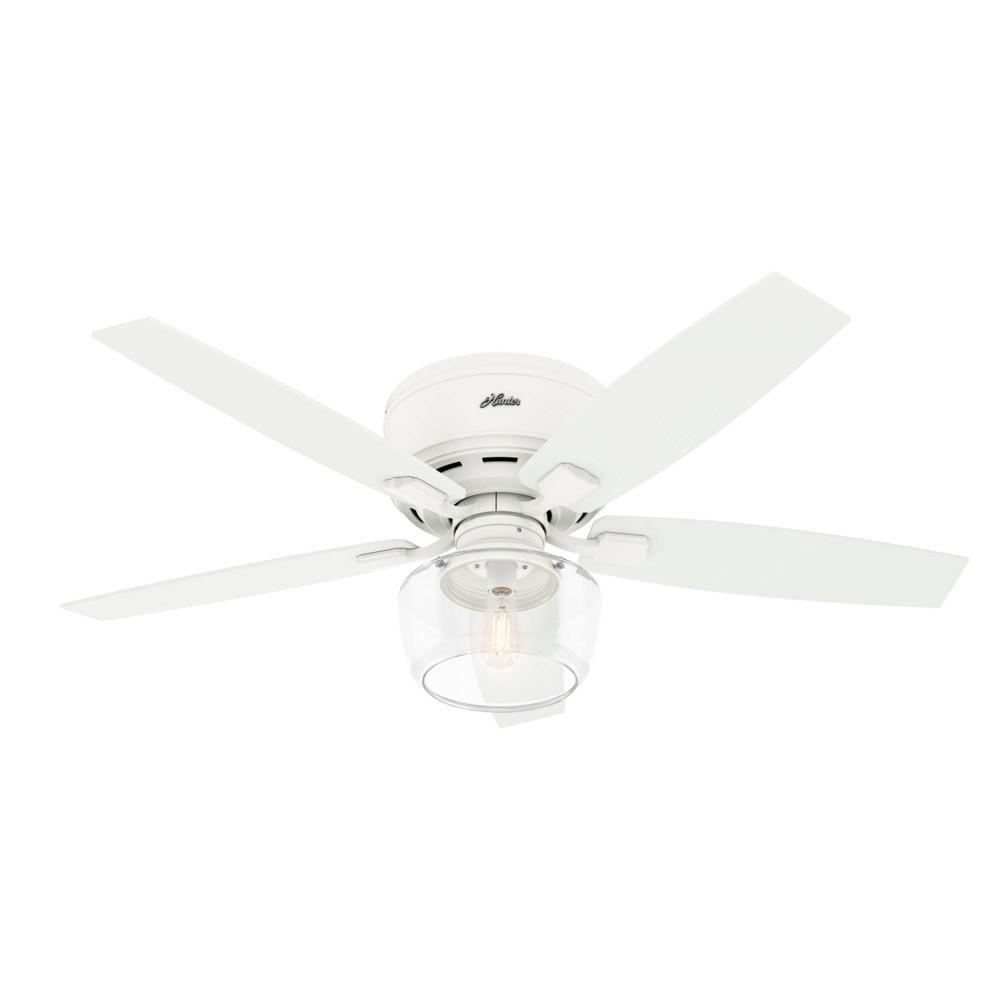 """Image of """"52"""""""" LED Bennett Low Profile Ceiling Fan with Light Matte White - Hunter Fan"""""""