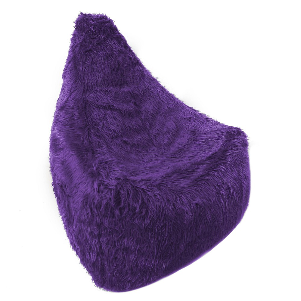 Big Mouth Faux Fur Inflatable Chair Purple Iron Cloud