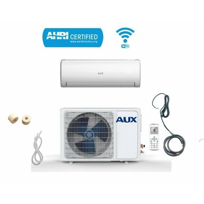 AUX 36000 BTU Ductless Wi-Fi Control 17 SEER 230V 3 Ton 25' Line Set Wall Mount Mini Split Air Conditioner with Heat Pump