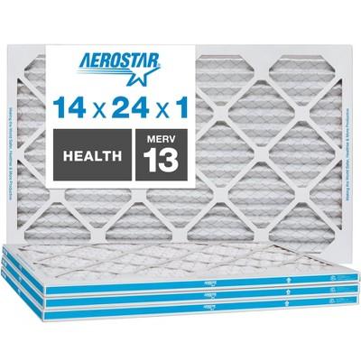 Aerostar AC Furnace Air Filter - Health - MERV 13 - Box of 4