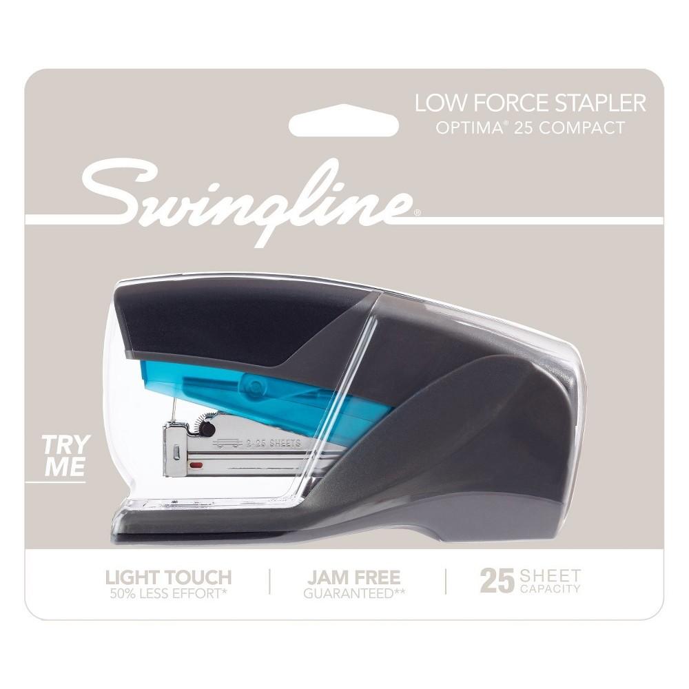 Swingline Optima 25 Compact Stapler Blue/Gray, Silver