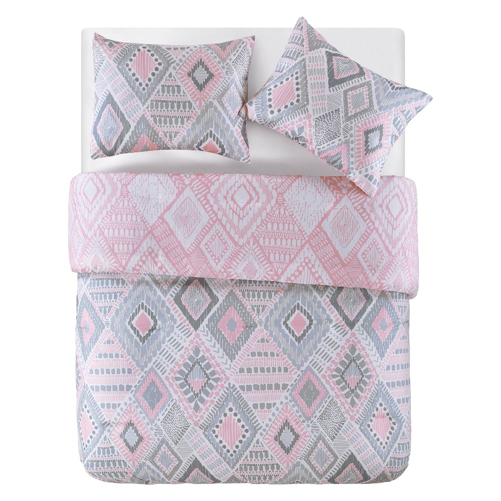Dream On Pink Comforter (Full) - 3pc - Vcny Home