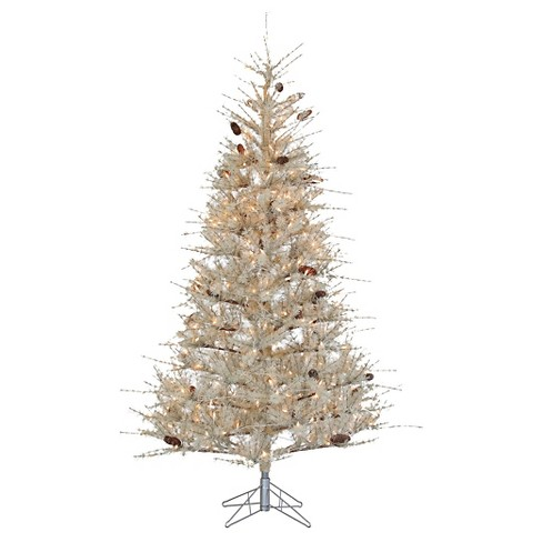 7ft Pre-Lit Artificial Christmas Tree Full Buttercream Frosted - Clear Lights - image 1 of 1