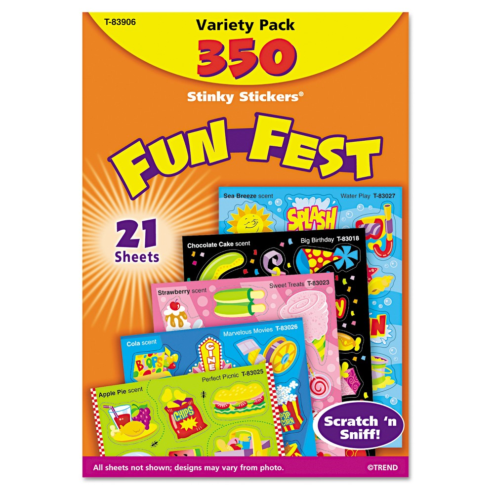 Trend Stinky Stickers Variety Pack, Sweet Scents, 480/Pack