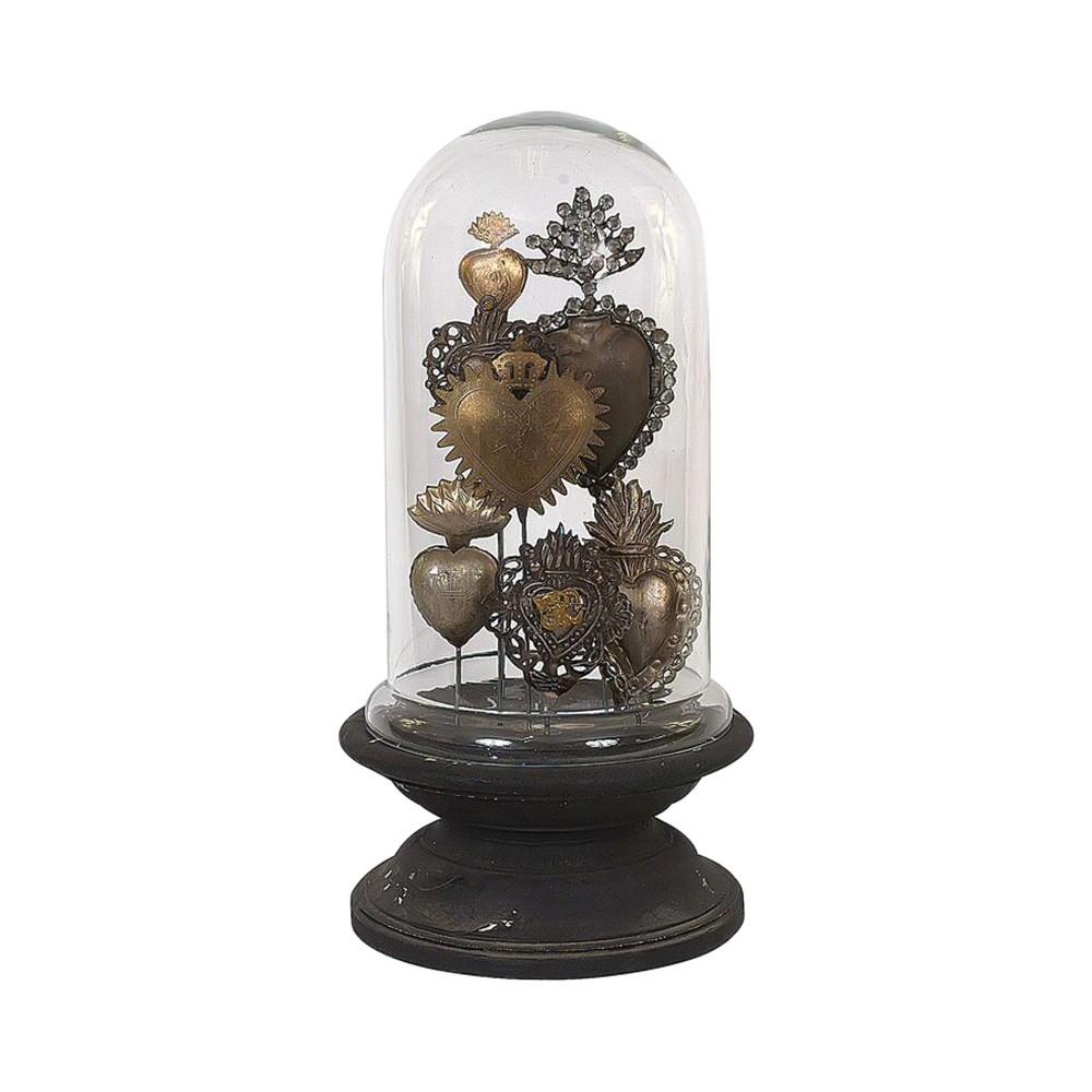 Sacred Heart Pedestal Sculpture - 3R Studios, Black