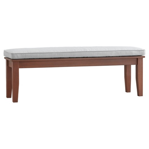Parkview Bench with Cushion - Brown - Inspire Q - image 1 of 3