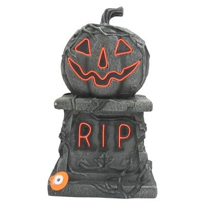 17'' Halloween Pumpkin Tombstone Gray - Hyde and Eek! Boutique ™