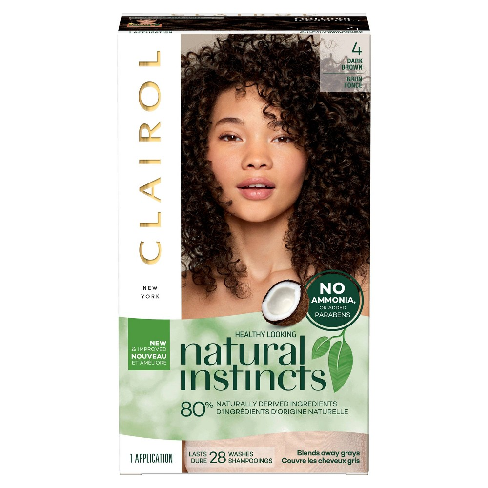 Image of Natural Instincts Clairol Non-Permanent Hair Color - 4 Dark Brown, Nutmeg - 1 Kit, 4 - Dark Brown