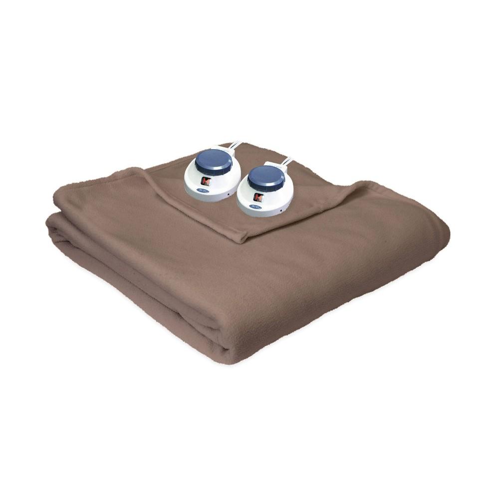Image of Micro Fleece Electric Blanket Beige (King) - SoftHeat