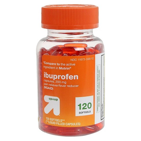 Ibuprofen (NSAID) Pain Reliever & Fever Reducer Softgels - 120ct - Up&Up™ - image 1 of 1