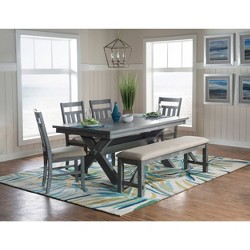 6pc Landon Dining Set Gray Oak - Powell Company