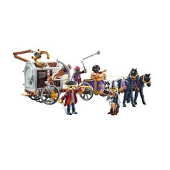 Playmobil Prison Wagon with Bloodbones and Charlie