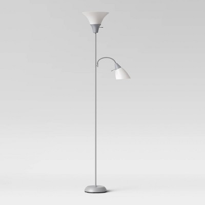 Tochiere with Task Light Floor Lamp Gray - Room Essentials™