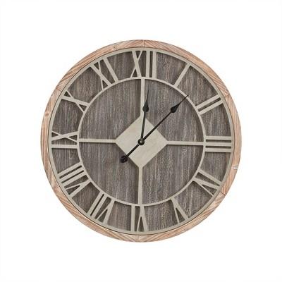 Jackson Wall Clock Reclaimed Gray