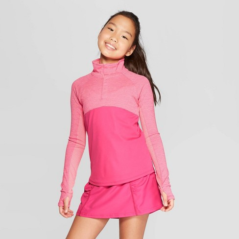 Girls' Snap Up Performance Pullover - C9 Champion® - image 1 of 3