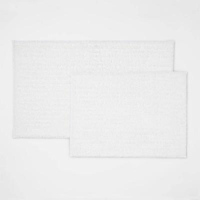 2pk Quick Dry Bath Rug Set White - Threshold™