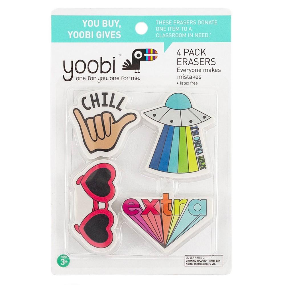 Image of 4pk Erasers - Yoobi