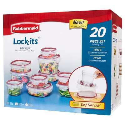 Rubbermaid Lock-its Food Storage Container Set, 20-piece