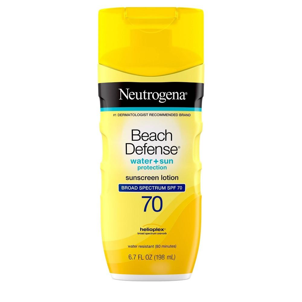 Image of Neutrogena Beach Defense Broad Spectrum Sunscreen Body Lotion - SPF 70 - 6.7oz