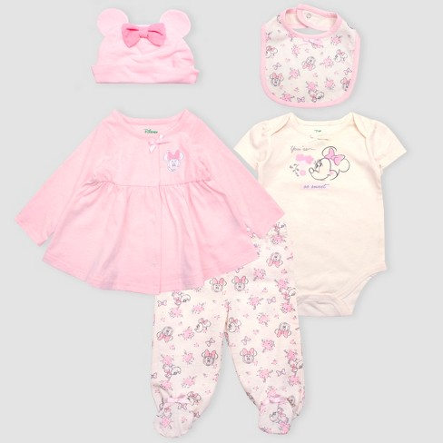 d6cf251c0db Baby Girls  Disney Mickey Mouse   Friends Minnie Mouse 5pc Bodysuit ...