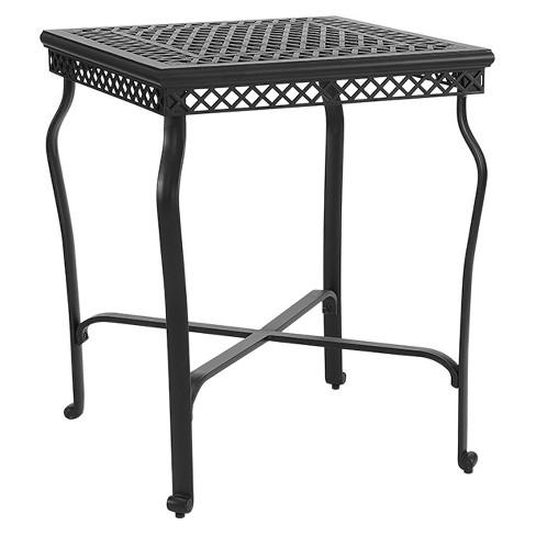 Portofino Cast Square Aluminum Bar Height Bistro Table Crosley