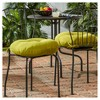 """Set of Two 18"""" Solid Outdoor Bistro Chair Cushions - Kensington Garden - image 2 of 4"""