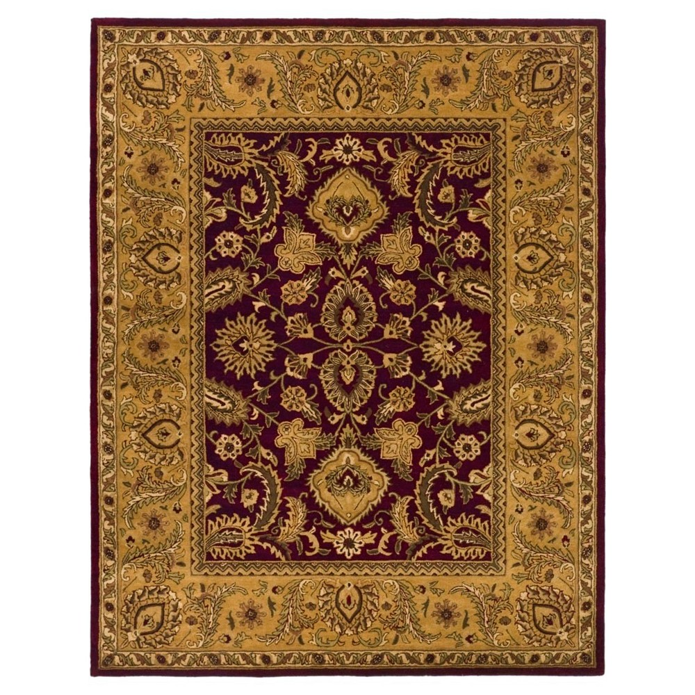 Burgundy/Gold (Red/Gold) Botanical Tufted Area Rug - (8'3X11') - Safavieh