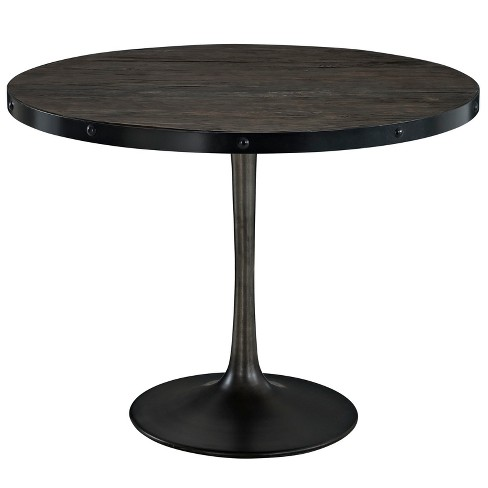 Drive Round Wood Top Dining Table - Modway - image 1 of 5