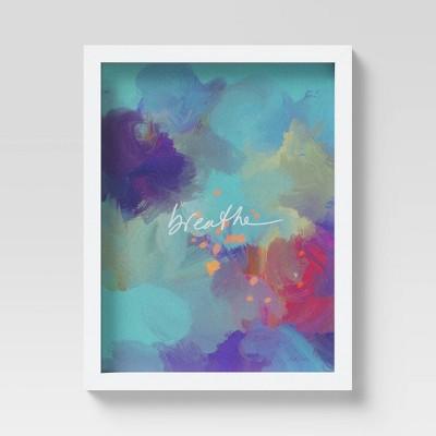 "12"" x 9"" Abstract by Morgan Harper Nichols Framed Art Blue"