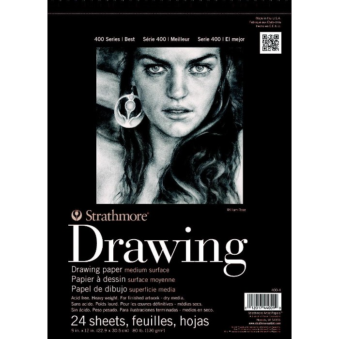 Strathmore 400 Series Drawing Pad, 9 x 12 Inches, 80 lb, 24 Sheets - image 1 of 1