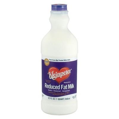 Kleinpeter Reduced Fat Milk - 1qt