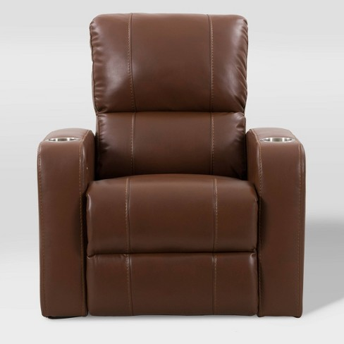 Tucson Home Theater Single Power Recliner with Stainless Steel Cup Holders Corliving