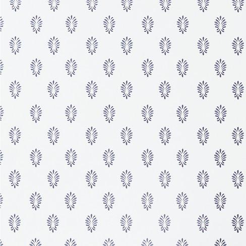 c5a32359364f Florida Dilly Peel   Stick Removable Wallpaper Indigo White ...