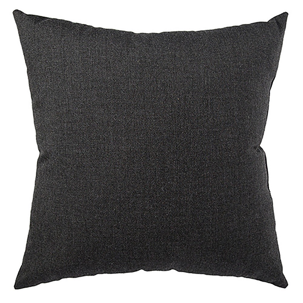 "Image of ""17"""" Solid Yacht Indoor/Outdoor Throw Pillow Black - Jaipur Living"""