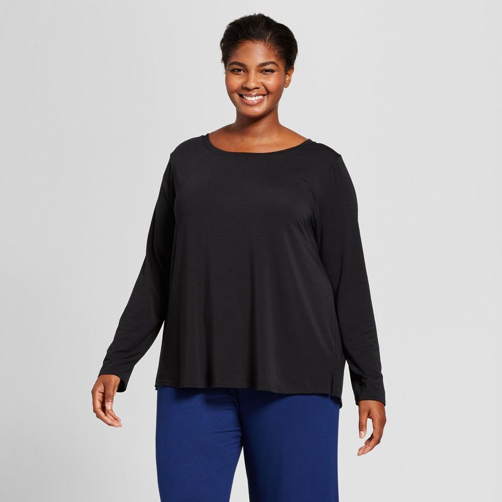 Women's Plus Size Sleep T-Shirt - Ava & Viv Black 3X