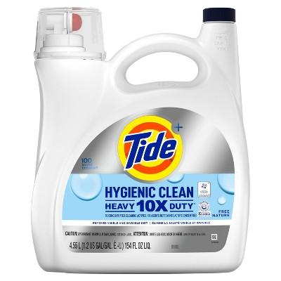 Tide Hygienic Clean Unscented Liquid Laundry Detergent - 154 fl oz
