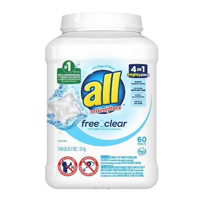 all Mighty Free Clear For Sensitive Skin Laundry Detergent Pacs - 60ct