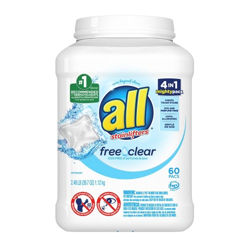 all Mighty Free Clear For Sensitive Skin Laundry Detergent Pacs  - 60ct - image 1 of 3