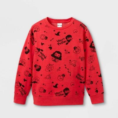 Boys' Harry Potter Crew Neck Pullover Sweatshirt - Red