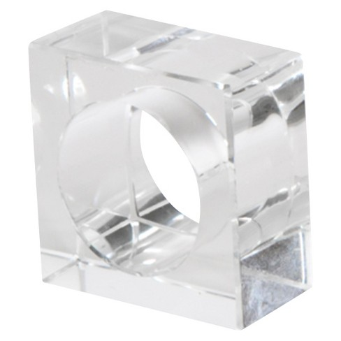 Crystal Napkins Rings (Set Of 4) - image 1 of 1