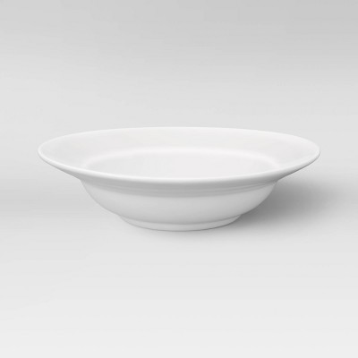 16oz Porcelain Rimmed Pasta Bowl White - Threshold™