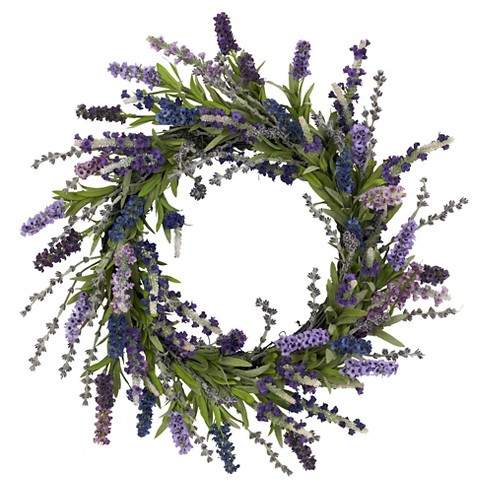 "Nearly Natural Lavender Wreath Purple (20"") - image 1 of 1"