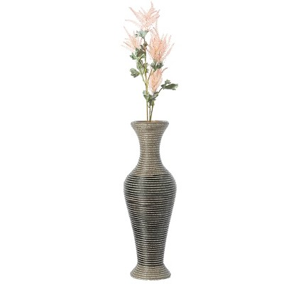 Uniquewise Artificial Rattan Weaved Wire Design Tabletop Accent Decorative Vase 23 Inch High