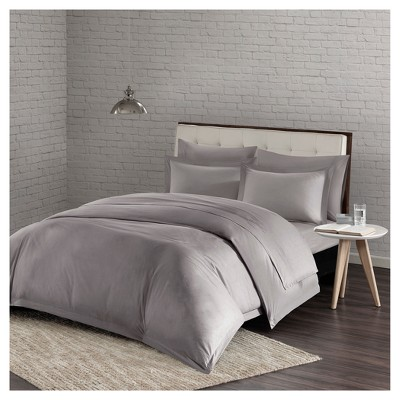Gray Comfort Wash Duvet Cover Mini Set (King/California King)