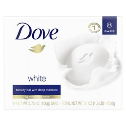 Dove White Moisturizing Beauty Bar - 4oz 8ct