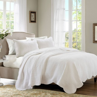 3pc King Genoa Coverlet Set White