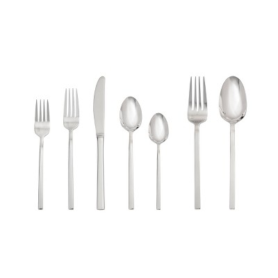 42pc Stainless Steel Theo Silverware Set - Fortessa Tableware Solutions