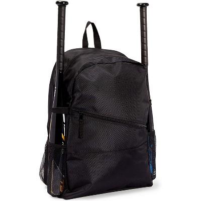 Okuna Outpost Baseball Bag, Black Bat Backpack for Baseball, Teeball & Softball Equipment