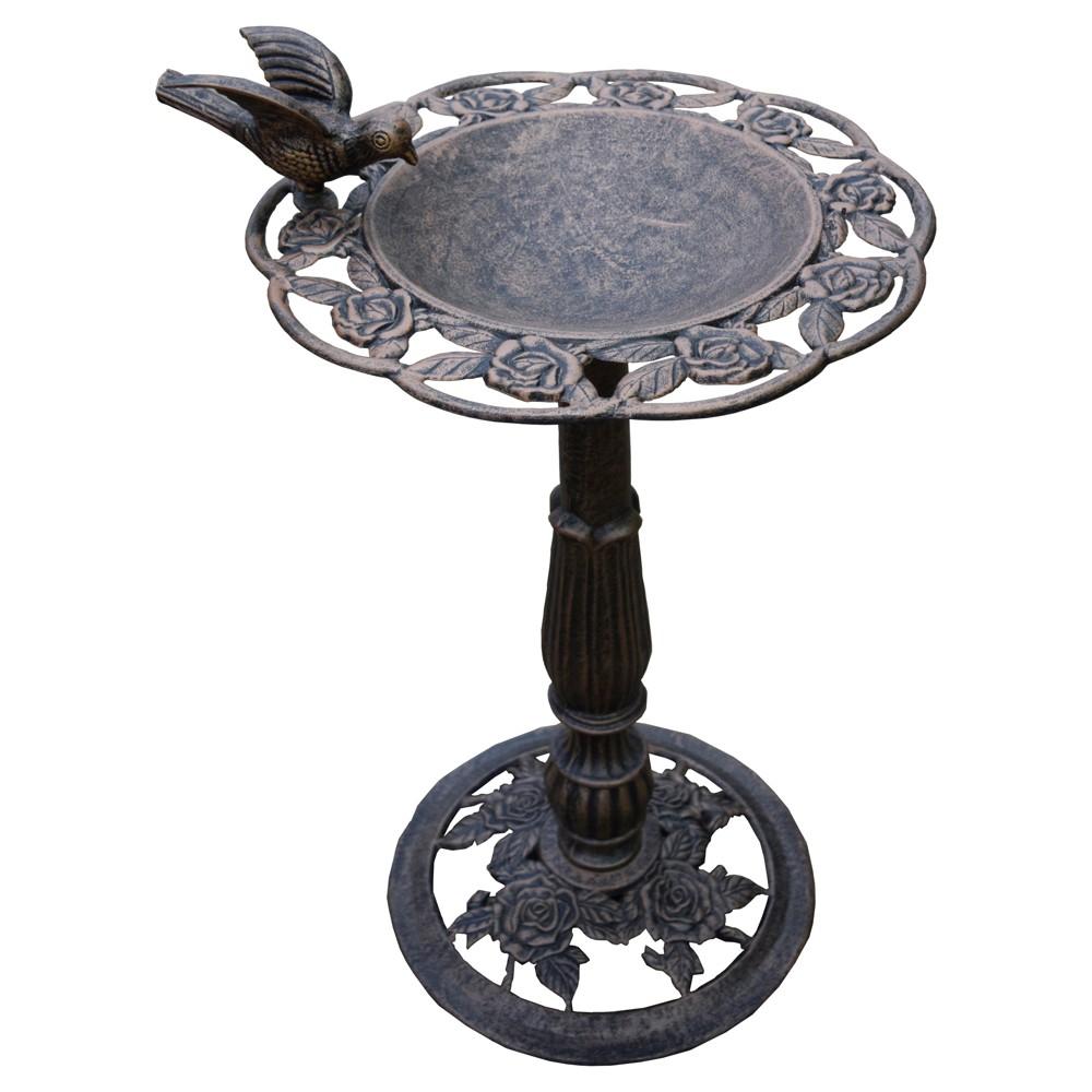 Image of 28 Rose BirdBath - Antique Bronze