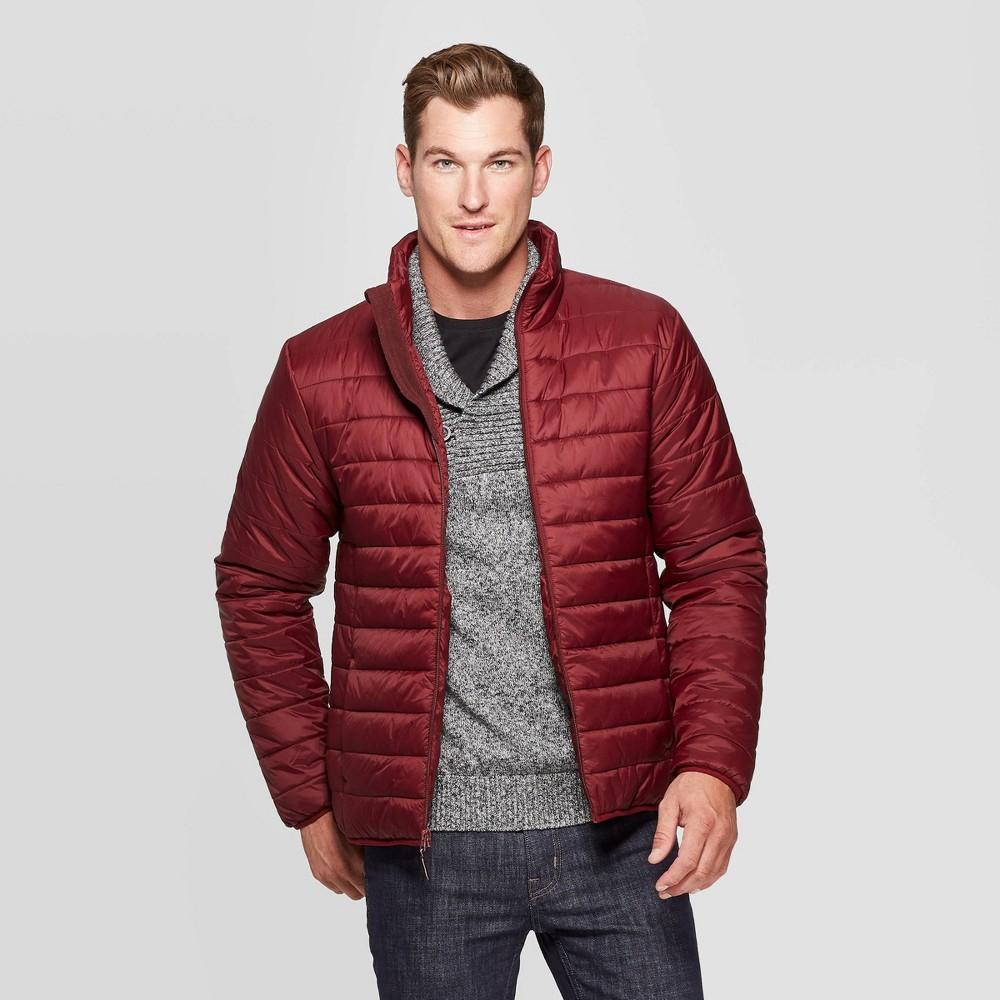 Men s Standard Fit Puffer Jacket Goodfellow Co 8482